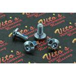 4x Rear Brake Disc ROTOR HUB BOLTS Yamaha Banshee Blaster Warrior Raptor silver
