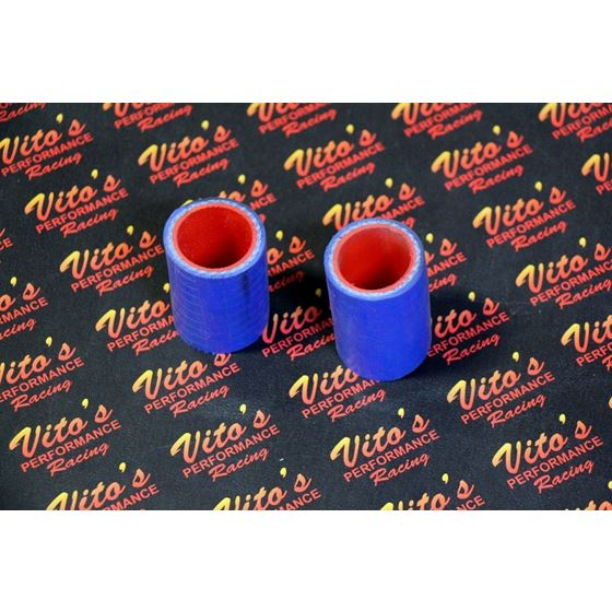 """2 x Vito's Yamaha Banshee exhaust pipe clamps 1"""" FMF Toomey BLUE silicone 87-06"""