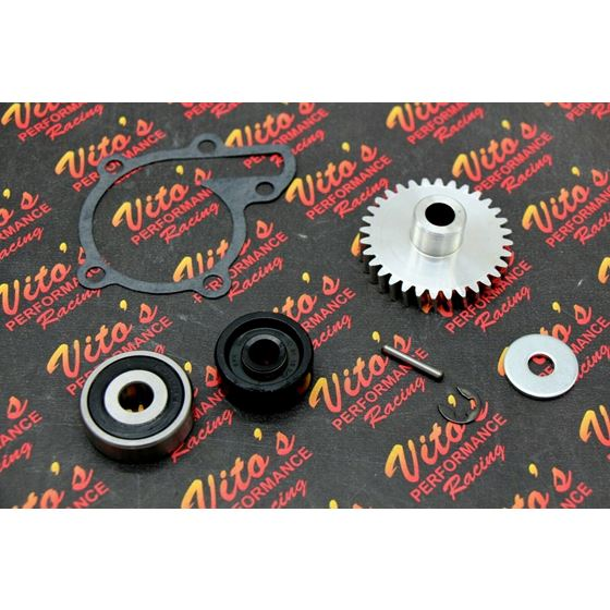 Vitos Banshee BILLET GEAR aluminum water pump impeller gasket seal bearing
